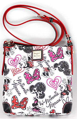 Disney Dooney & Bourke Minnie Mouse Hearts & Bows Letter Carrier Crossbody Bag