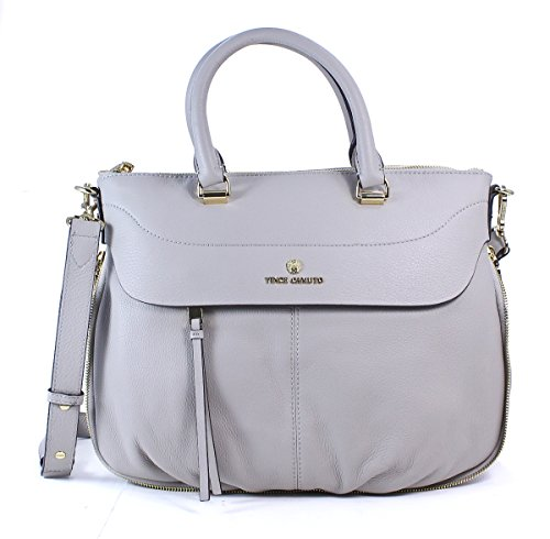 "Vince Camuto ""Dean"" Zippered Leather Satchel"