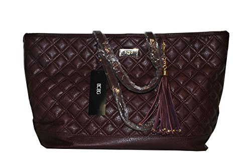 BCBG Quilted Tote Bag Merlot 0055B