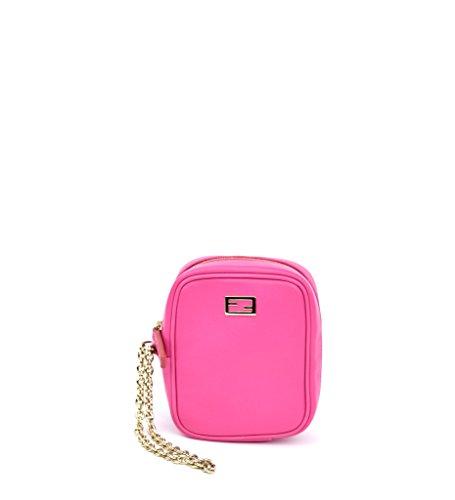 Fendi Pink Leather Wristlet Case