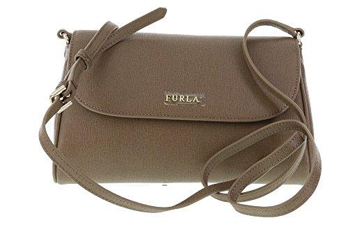 Furla Lilli Saffiano Leather Cross Body / Shoulder Bag in Daino (003)