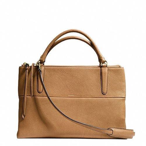 Coach the Borough Bag Satchel Handbag Purse Shoulder Bag in Camel/tan