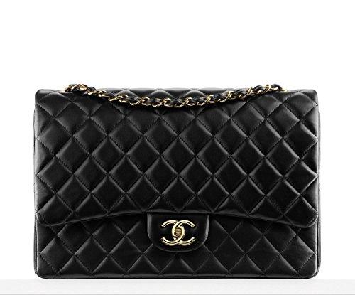 CHANEL Women Lambskin Flap Chain Shoulder Bag
