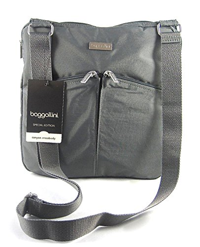 Baggallini Special Edition Canyon Crossbody- Charcoal