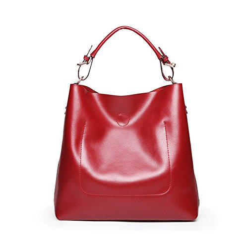 Women Second Layer of Leather Handbag Satchel Hobo Tote
