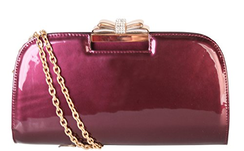 Rimen & Co. Ladies Fashion PU Patent Leather Lovely Crossbody Evening Clutch Bag Handbag LP-2841