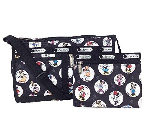 LeSportsac Disney Minnie Mouse Deluxe Shoulder Stash Crossbody Bag, Celebrate Minnie