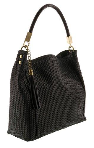 HS2070 GRAZIA Leather Hobo Shoulder Bag
