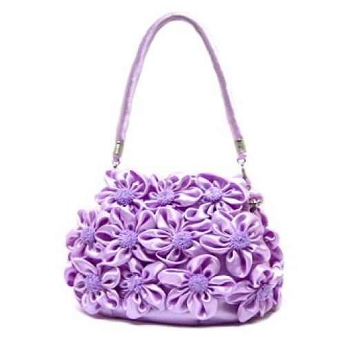 Evening Bag – Rosettes – Lilac