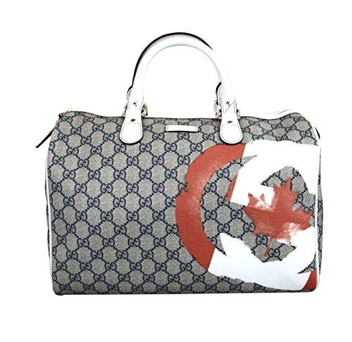 Gucci Joy Boston Coated Canvas Canadian Flag Handbag 195451