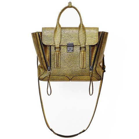 3.1 Phillip Lim Pashli Black-Yellow Gold Medium Satchel