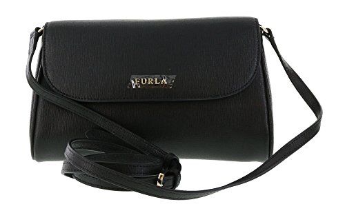 Furla Lilli Saffiano Leather Cross Body / Shoulder Bag in Onyx (001)
