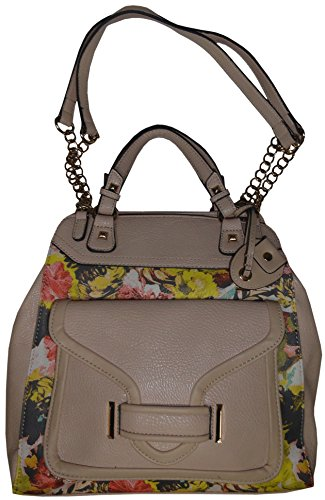 Jessica Simpson Women's Leah Handbag, Floral/Light Taupe