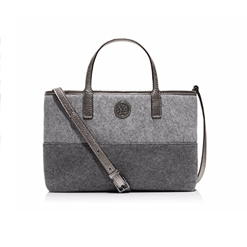 Tory Burch Ashley Cross-Body Shopper Gray