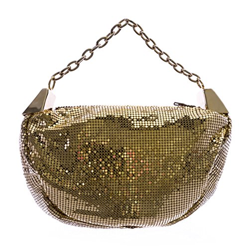 Giorgio Armani Women's Metal Sequin Evening Bag Gold