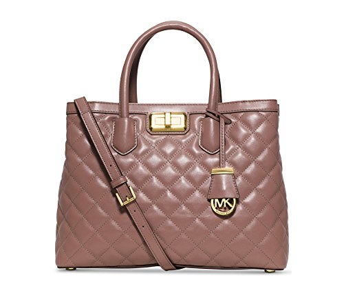 MICHAEL Michael Kors Womens Hannah Large Satchel Dusty Rose