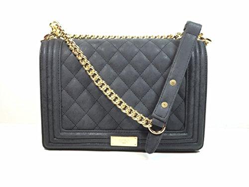 Bcbg Matte Quilted Chain Shoulder Bag Black