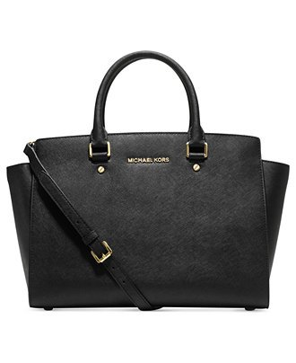MICHAEL Michael Kors Selma Large East West Satchel-Black Gold