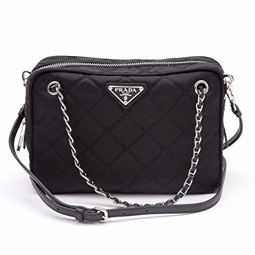 Prada Tessuto Impuntu Quilted Nylon Shoulder Chain Handbag BL0910, Black / Nero