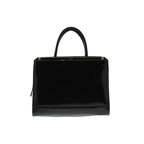 Halston Heritage Womens Leather Framed Satchel Handbag