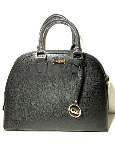 Bcbg Paris Black Bowler Satchel Bag / Gold