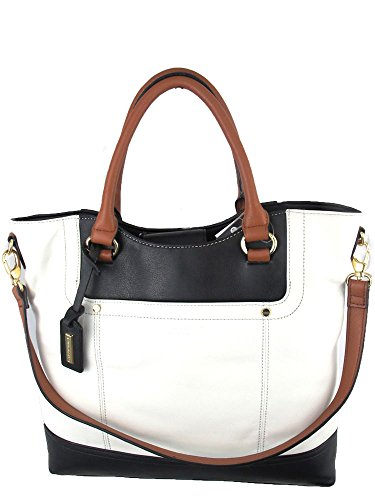 Tignanello Smooth Operator Shopper in White/black