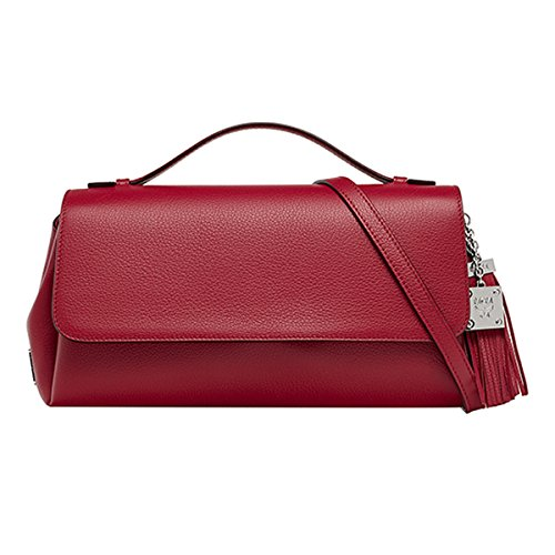2015 AW MCM THERESIA Unisex's Small Clutch Bag_Red MWC5ATE02RE