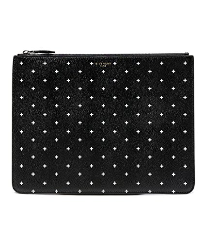 Givenchy Women's White Cross Pattern Real Leather Clutch