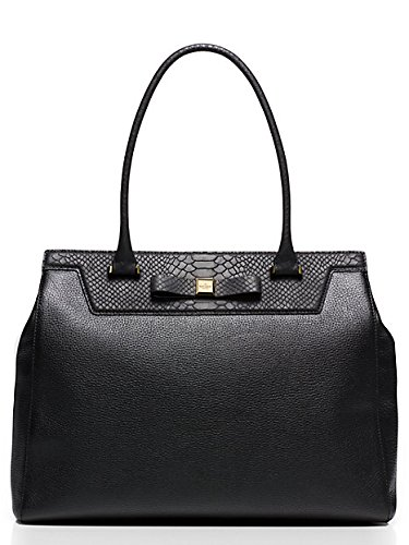 Kate Spade New York Satchel Rivas Street Selby Black Leather Bag