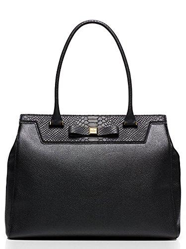 Kate Spade New York Satchel Rivas Street Selby Black Leather Bag