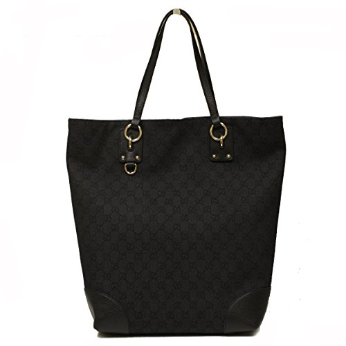 Gucci Black Canvas and Leather Large Tote Bag