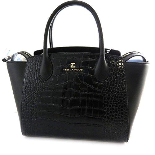 Leather bag 'Ted Lapidus'black.