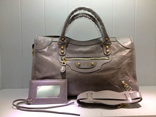 Balenciaga Giant 12 Gold City Top Handle Deep Grey Satchel