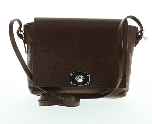 Furla New Appaloosa Pebbled Leather Cross Body Shoulder Bag (Choco 003)