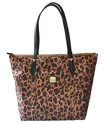 Ralph Lauren Duffield Cheetah Nylon Tote, Brown Multi