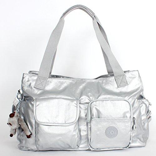Kipling Lily Shoulder Bag Silver Metallic