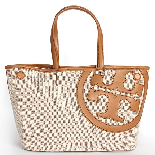 Tory Burch Lonnie Canvas Mini Tote Natural/vachetta