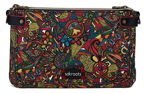 Sakroots Artist Circle Triple Gusset Mini Cross Body Bag