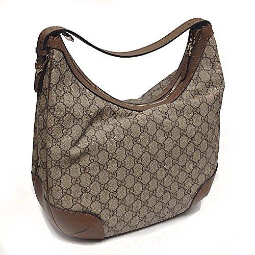 Gucci Canvased Logo and Leather Shoulder Bag 309618