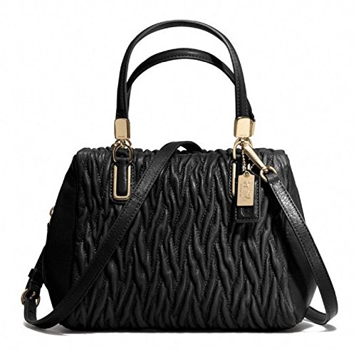 Coach Madison Twist Leather Mini Satchel Bag