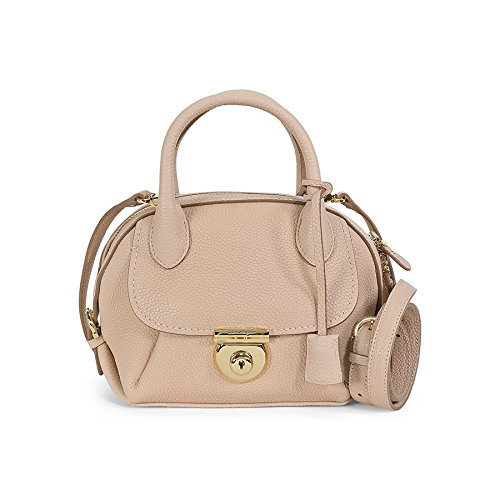 Salvatore Ferragamo Mini Fiamma Satchel – Bisque