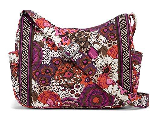 Vera Bradley On the Go Shoulder Hobo Style Handbag in Rosewood