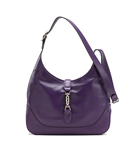 Gucci New Jackie Women's Shoulder Bag Handbag Grape Deep Purple Leather 277520