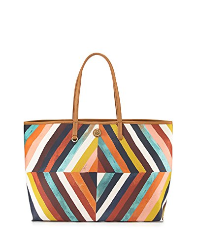 Tory Burch Kerrington Square Tote Diamond Multicolor Handbag Shopper