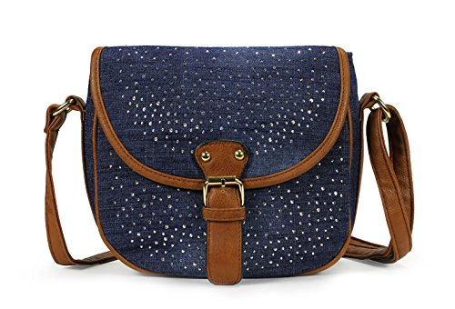 Scarleton Denim Crossbody Bag H1739