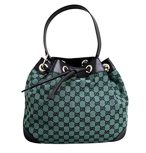 Gucci Canvas Green Drawstring Handbag Shoulder Bag 272374 8303