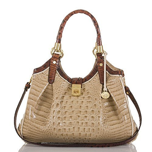 NEW AUTHENTIC BRAHMIN ELISA CARRYALL SHOULDER TOTE (Twill Tri-Texture)