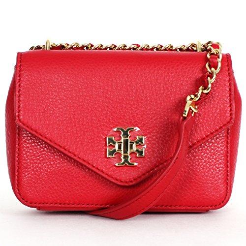 Tory Burch Kira Mini Chain Clutch Crossbody Kir Royale Red