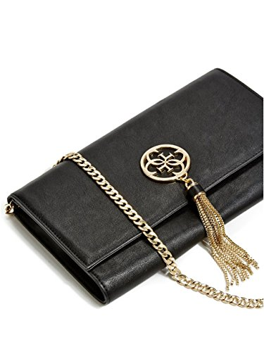 GUESS Women's Quattro G Tassel Clutch