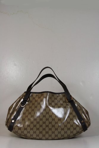 Gucci Handbags Crystal (Coating) Beige and Brown Leather 293578